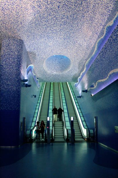 Toledo Station designed by Oscar Tousquets Blanca in Naples Italy