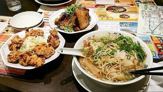 different-food-dishes-in-a-restaurant-in-osaka