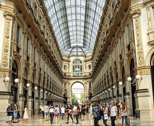 Shopping gallery in Milan