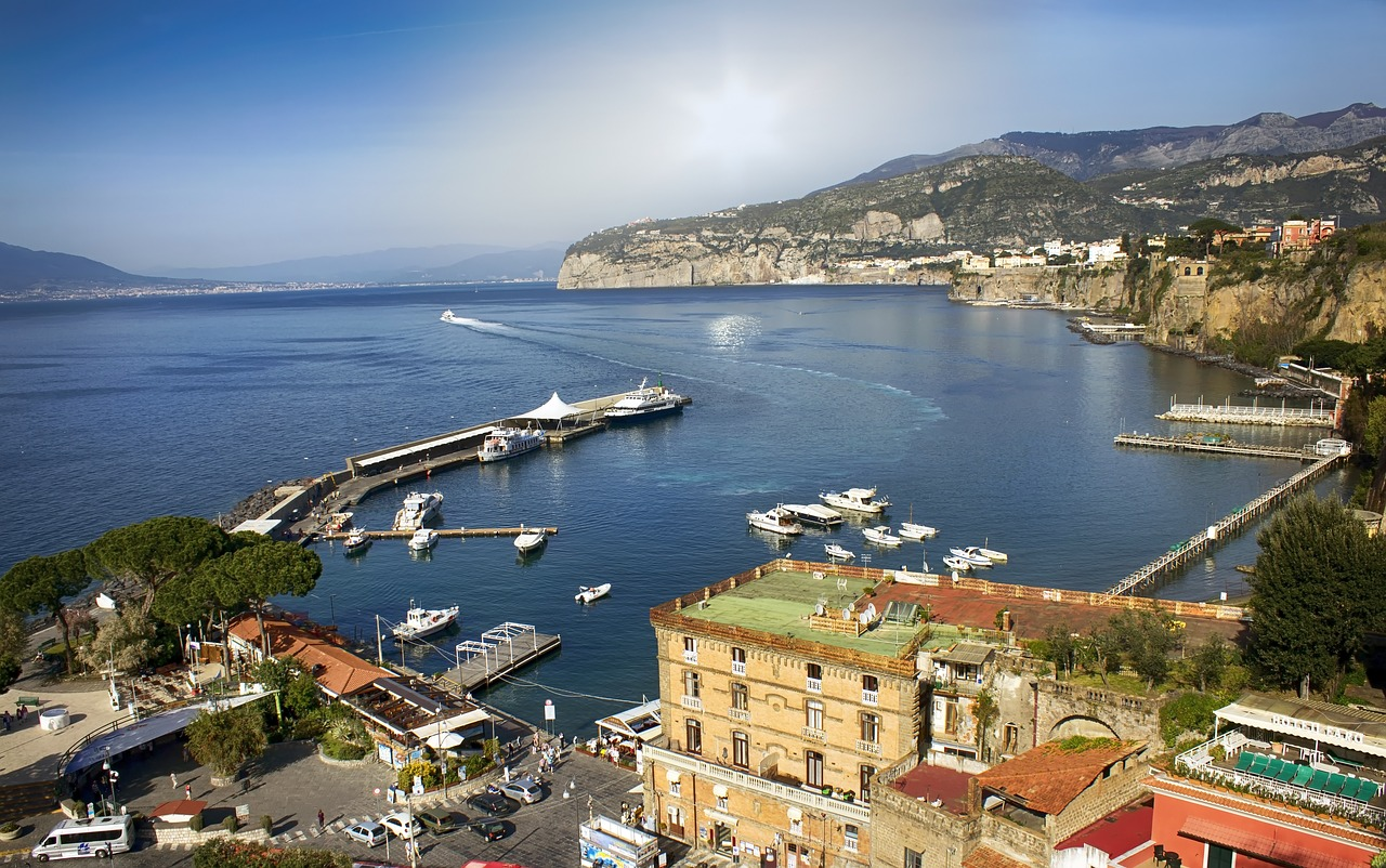 View of sorrento Italy