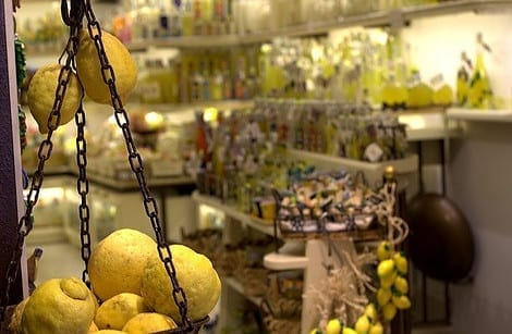 Lemon shop in Sorrento, Italy