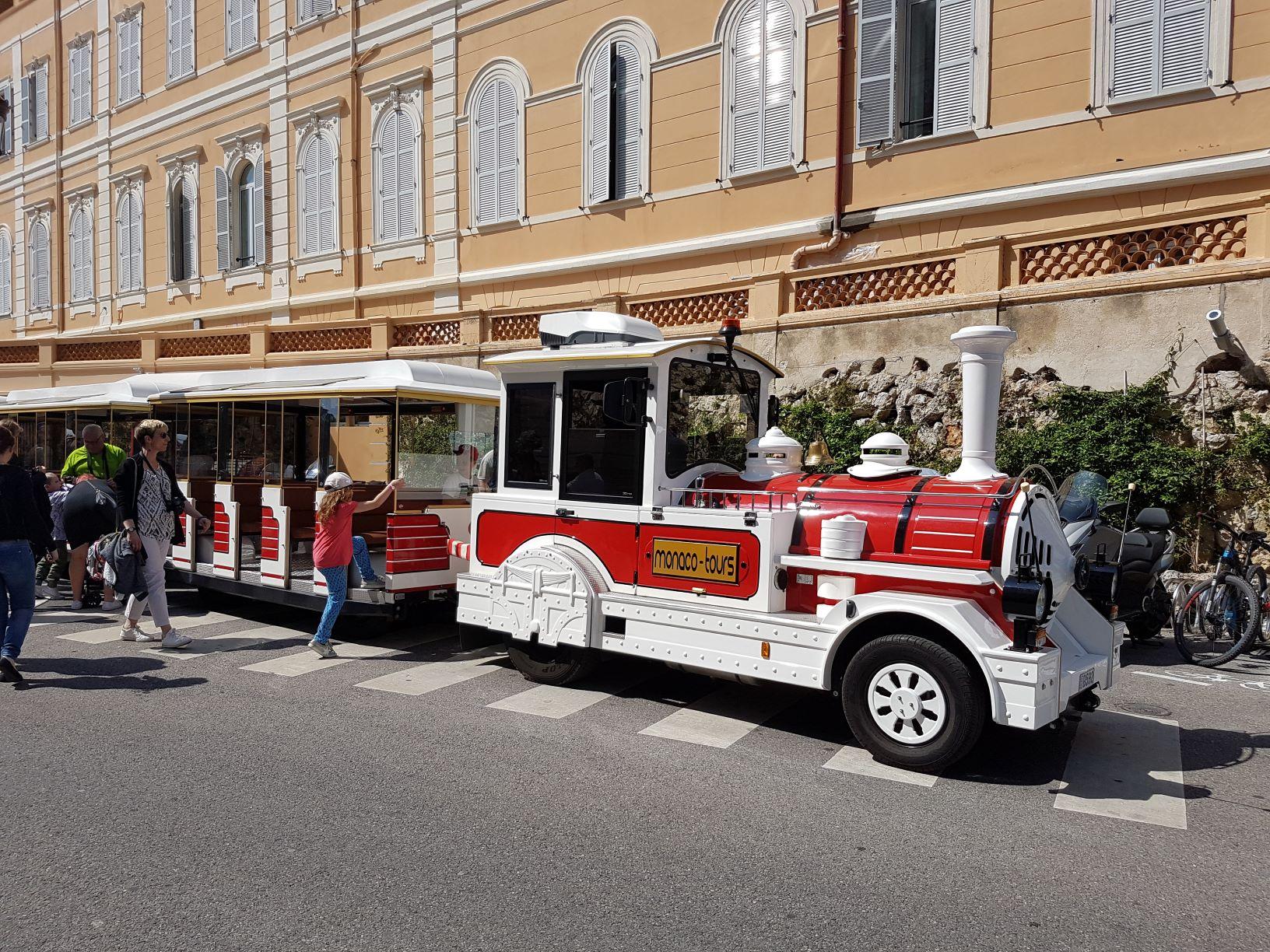 Monaco Train Tour through monaco-ville