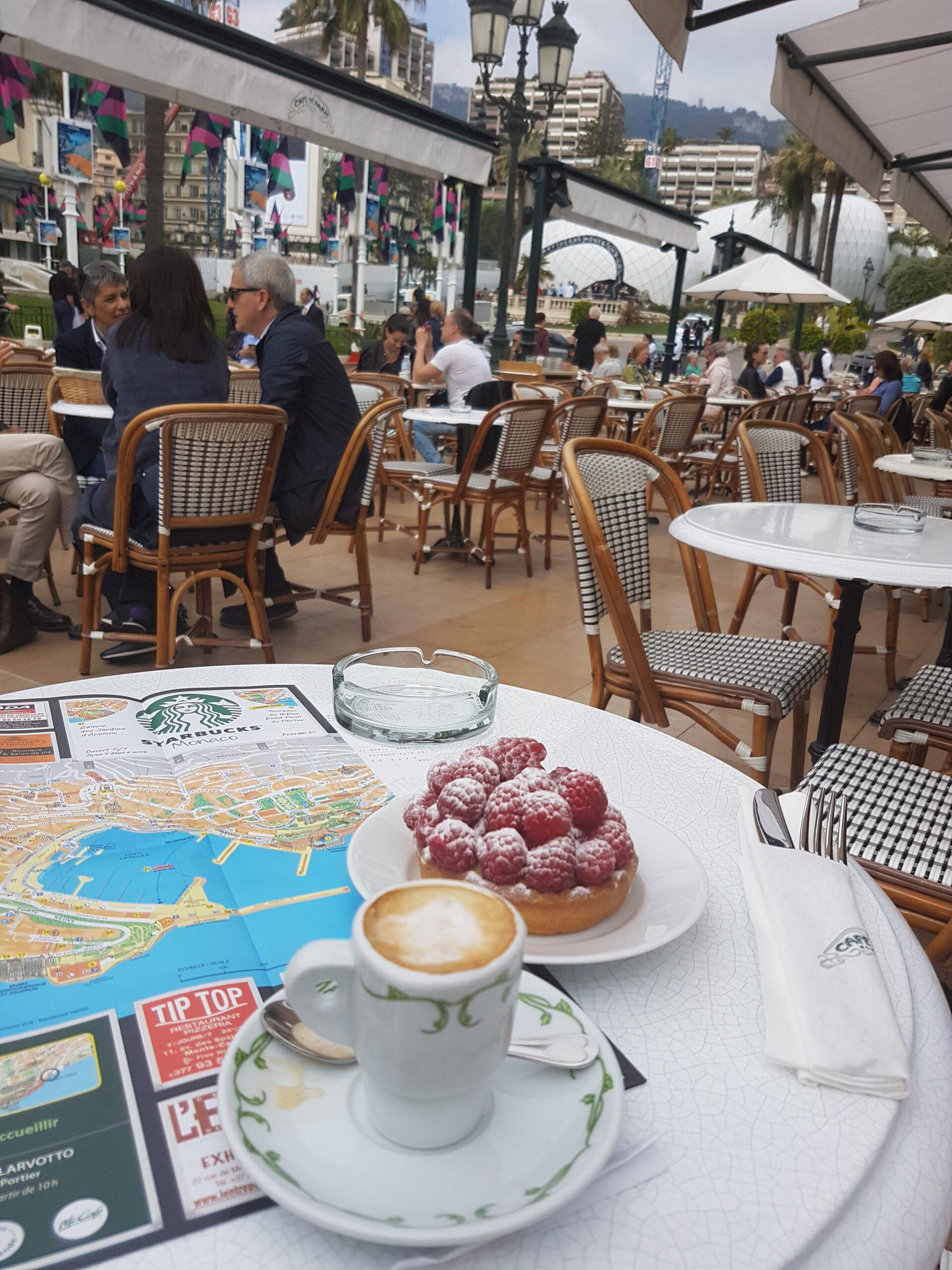 Coffee at Cafe de Paris, Monaco
