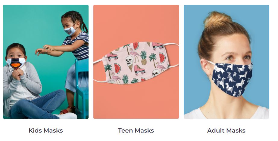 Print on Demand Face Masks on Redbubble