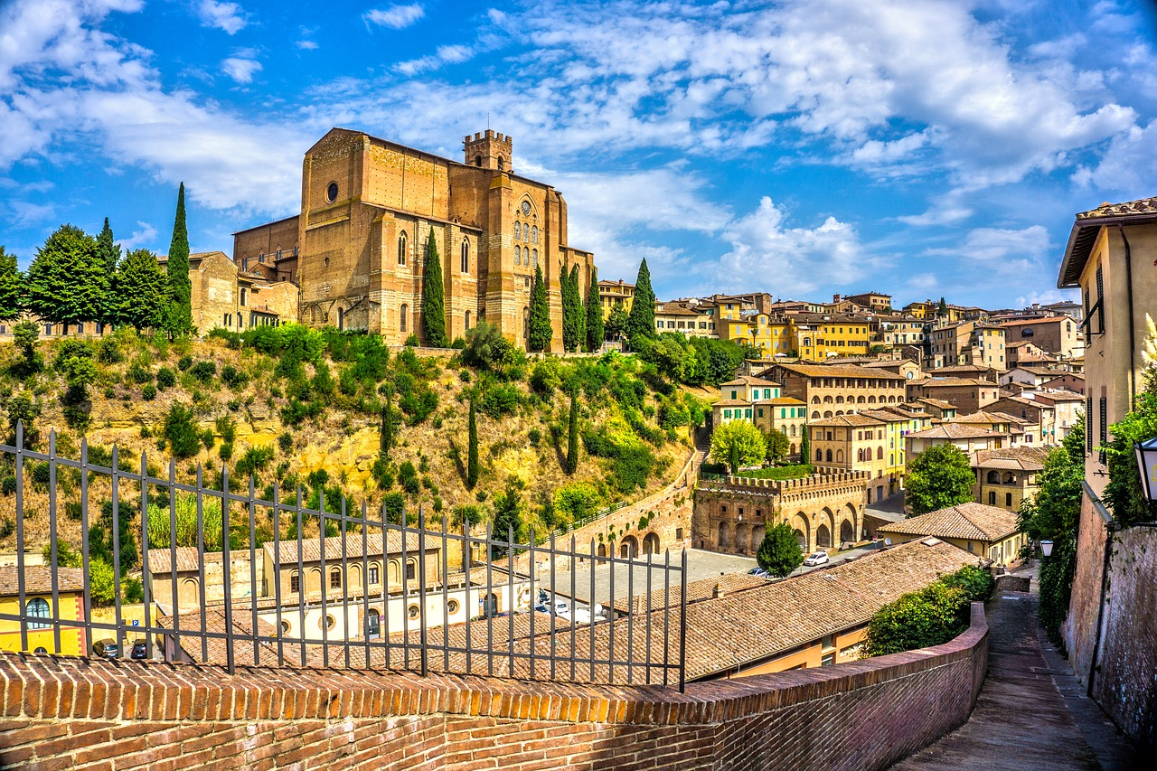 view of Siena from outside the city