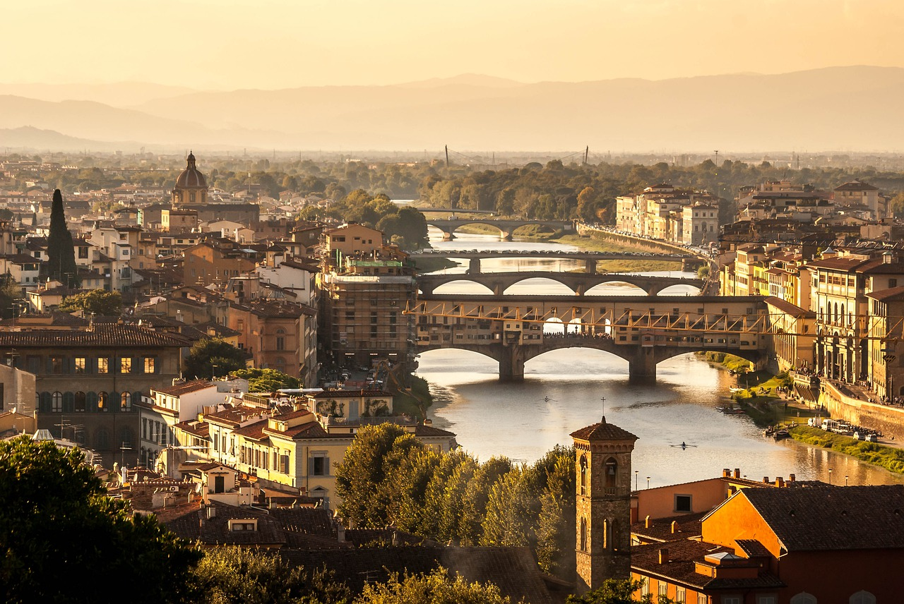View of Florence and its river, Tuscany