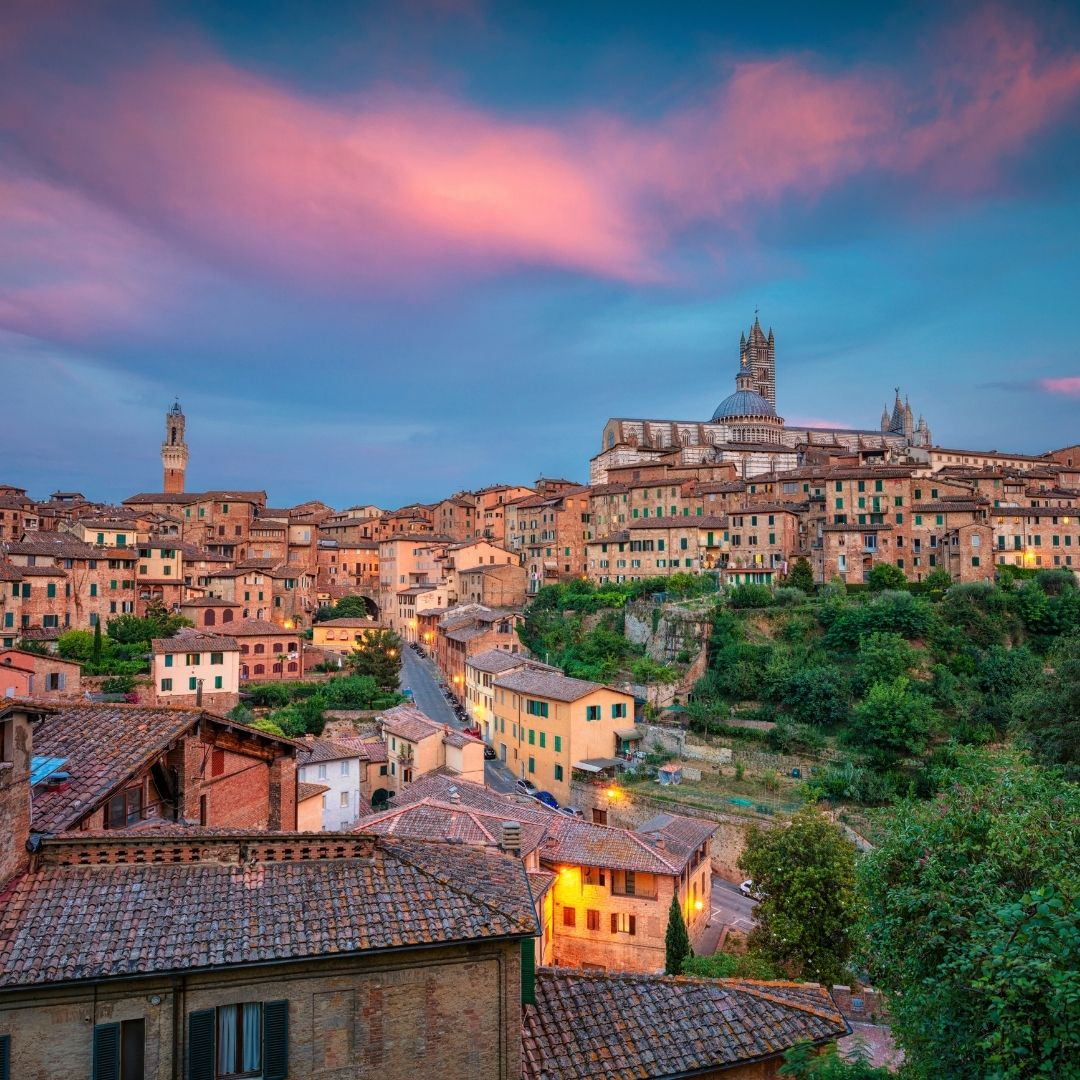 Skyline view over Siena, Italy